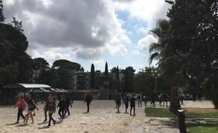 A la faculté Paul-Valéry à Montpellier, ce lundi matin, jour de rentrée.