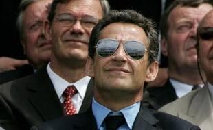 Nicolas Sarkozy au Bourget, le 23 juin 2007.