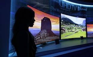 Des téléviseurs Samsung, au CES de Las Vegas, en 2014.
