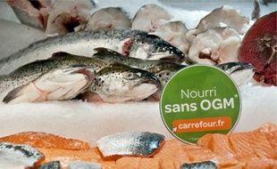 Le logo sera apposé sur les viandes, les œufs et les poissons de la marque Carrefour.