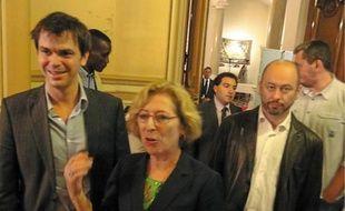 Geneviève Fioraso (ici avec son suppléant Olivier Véran) arrive largement en tête dans la 1re.