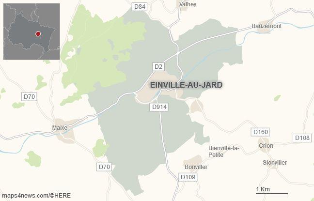 La commune d'Einville-au-Jard, en Meurthe-et-Moselle.