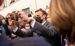 Emmanuel Macron, Président de la République, en déplacement à Valence, dans la Drôme, le 8 juin 2021 (Illustration)