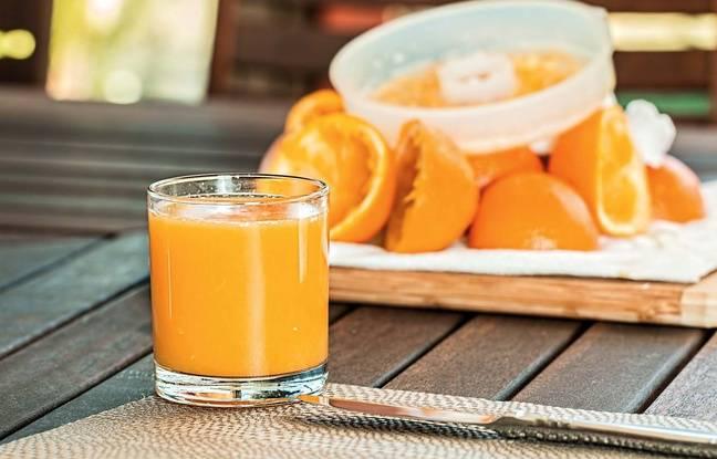 Illustration d'un jus d'orange.