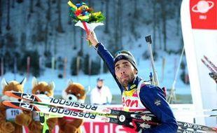 Martin Fourcade a remporté le sprint des Mondiaux-2012 de biathlon, samedi à Ruhpolding