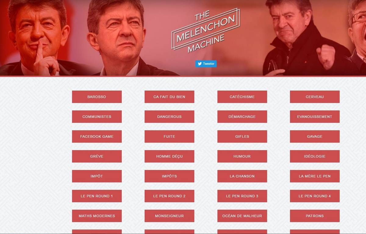 La Mélenchon Machine – Capture melenchon.machine.audio