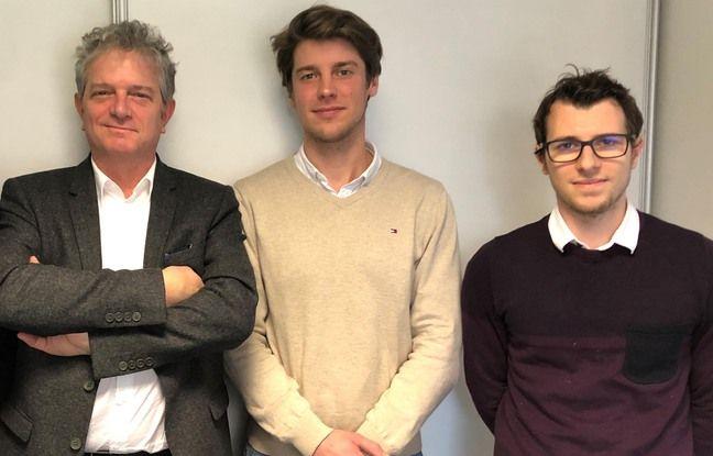 L'aquipe dirigeante de Whispeak, start-up lilloise spécialisée dans la biométrie vocale. De gauche à droite : Jean-François Kleinfinger (président), Florent Van Calster (directeur commercial) et Pierre Falez (directeur scientifique).