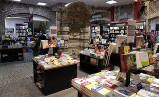 Une librairie à Rouen le 27 décembre 2020.