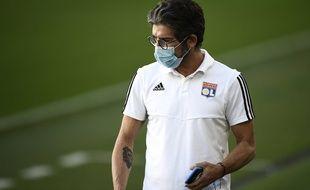 Juninho à Turin avant Juventus-OL en 8e de finale retour de Ligue des champions, le 6 août 2020.