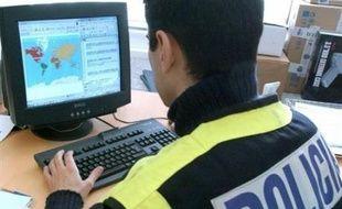 Illustration de la police espagnole.