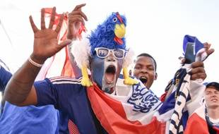 La joie dans la fan zone de Paris, après la qualification de la France pour la finale de la Coupe du monde
