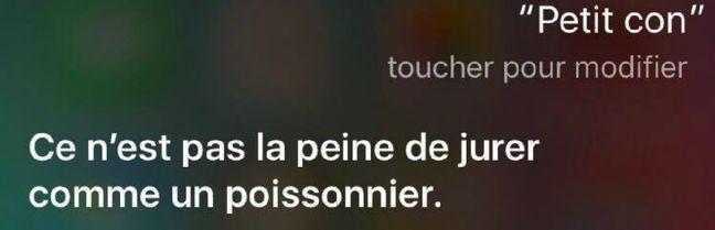 Oh on est capable de pire, Siri.