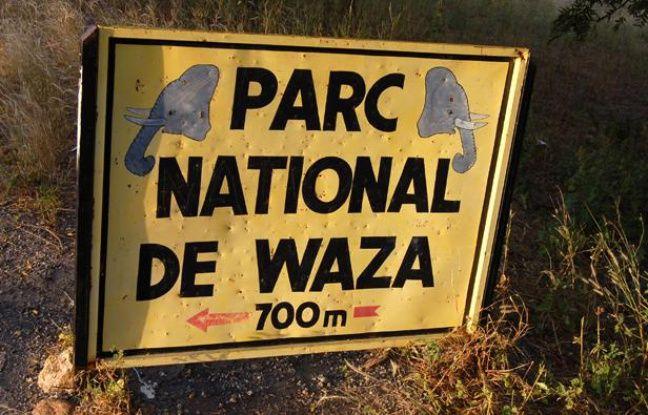 Entrée du parc national de Waza, au Cameroun, en octobre 2008.