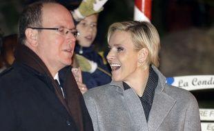Le Prince Albert et la Princesse Charlene de Monaco le 26 janvier 2015.