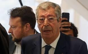 Paris, le 13 mai 2019. Patrick Balkany arrive au palais de justice de Paris où il est jugé pour «fraude fiscale» et «corruption».