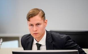 Philip Manshaus au tribunal d'Oslo, le 7 mai 2020.