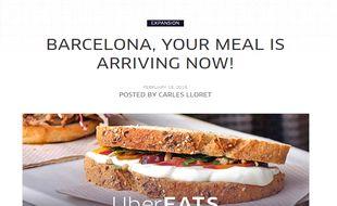 Le blog d'UberEats, la nouvelle application de commandes de repas en ligne.
