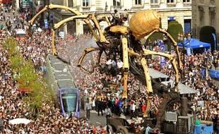 L'araignée géante à Reims en 2011.