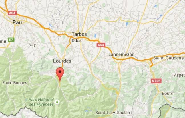Carte de localisation de la station du Hautacam, dans les Hautes-Pyrénées.