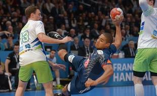 Daniel Narcisse lors de la demi-finale France-Slovénie, le 26 janvier 2017 à Bercy.