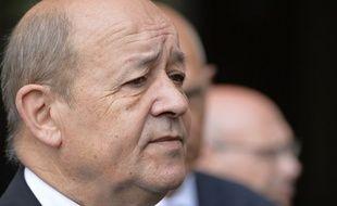 Jean-Yves Le Drian, le 4 août 2014 à Rennes