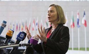 Federica Mogherini, haute représentante des Affaires étrangères de l'Union européenne, le 16 avril 2018.