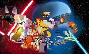 """Le """"cross-over"""" fait partie intégrante de la culture des fans de Mon Petit Poney. Ici avec Star Wars."""