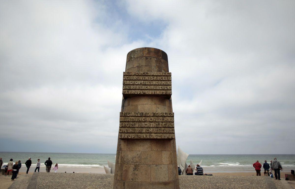 Le monument de la plage d'Omaha Beach, à Saint Laurent sur Mer - la célèbre plage du Débarquement du 6 juin 1944 - le 31 mai 2014.   – CHARLY TRIBALLEAU / AFP