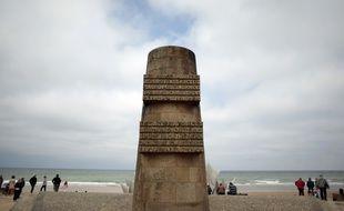 Le monument de la plage d'Omaha Beach, à Saint Laurent sur Mer - la célèbre plage du Débarquement du 6 juin 1944 - le 31 mai 2014.