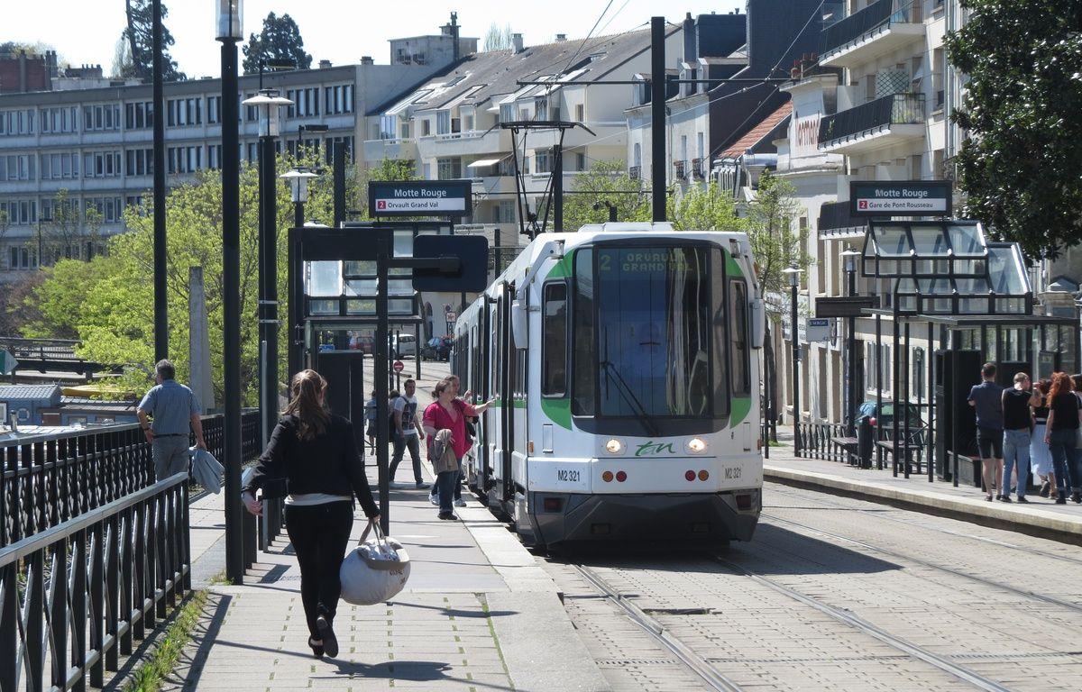 A Nantes, le 13 avril 2015- La station de tram Motte rouge, sur la ligne 2 – Julie Urbach / 20 Minutes