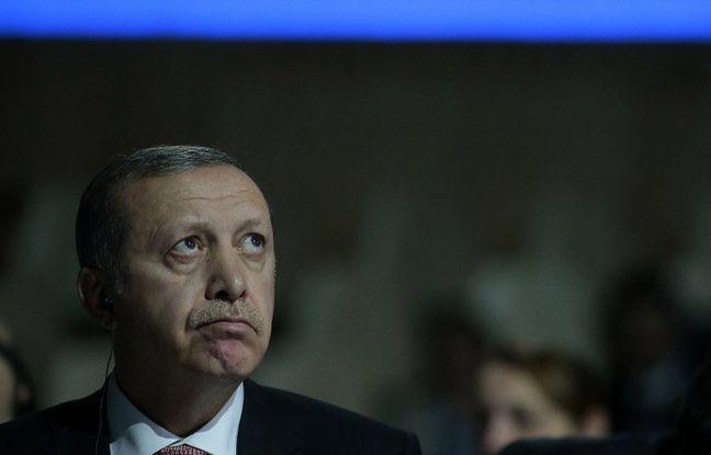 Le président turc Erdogan le 30 novembre 2015 au Bourget pour la COP21.