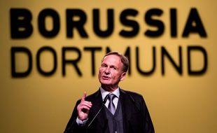 Le directeur général du Borussia Dortmund Hans Joachim Watzke lors de l'AG annuelle du club, le 26 novembre 2018.