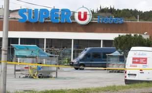Le Super U où à eu lieu l'attentat de Trèbes.
