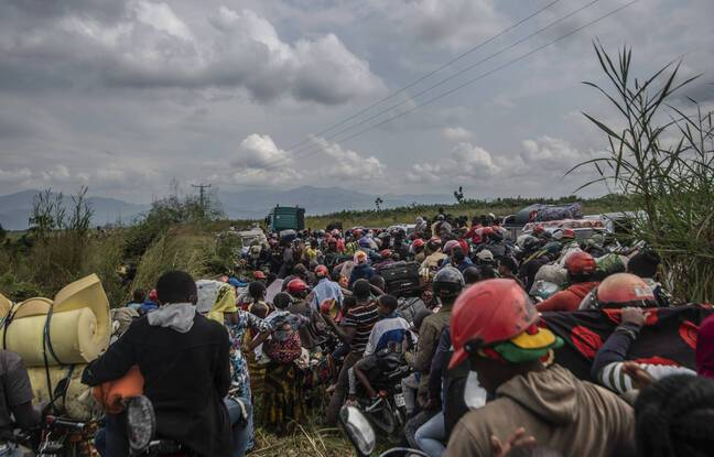 648x415 habitants goma fuyant catastrophe ville jeudi 27 mai 2021 apres autorite annonce risque eruption volcan nyiragongo republique democratique congo