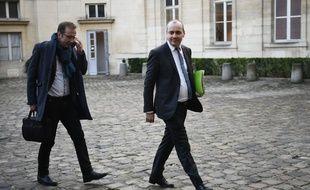 Paris, le 7 janvier 2020. Laurent Berger, le secrétaire général de la CFDT, arrive au ministère du Travail pour des négociations sur la réforme des retraites.
