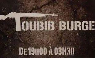 Le logo du restaurant-snack le Toubib Burger.