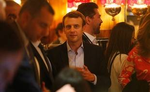 Emmanuel Macron, le 23 avril à La Rotonde à Paris.