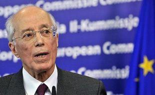 L'ex-ministre des Affaires étrangères tunisien Ahmed Abderraouf Ounaies à Bruxelles le 2 février 2011.
