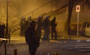 Affrontements entre nationalistes corses et forces de sécurité à Bastia, le 5 octobre 2016.