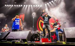 Le groupe Prophets of Rage en concert le 27 août 2016 à New York
