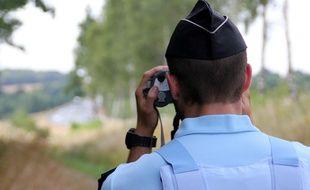 Les gendarmes de la brigade motorisée de Lunéville ont réalisé le contrôle de l'homme qui circulait en famille. Illustration