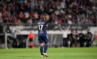Eve Périsset lors du barrage de la Ligue des champions entre Bordeaux et Wolfsburg, à Libourne le 8 septembre 2021.