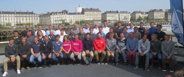 Quasiment tous les skippers réunis devant la Loire.