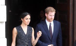 L'actrice Meghan Markle et son futur mari, le prince Harry