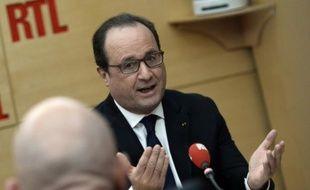 Francois Hollande invité de RTL le 19 octobre 2015 à Paris