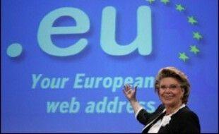 Le nom de domaine européen .eu, réservé aux citoyens des pays de l'UE. (illustration)