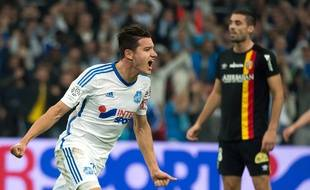 Florian Thauvin, buteur lors du match entre Marseille et Lens le 2 novembre 2014.