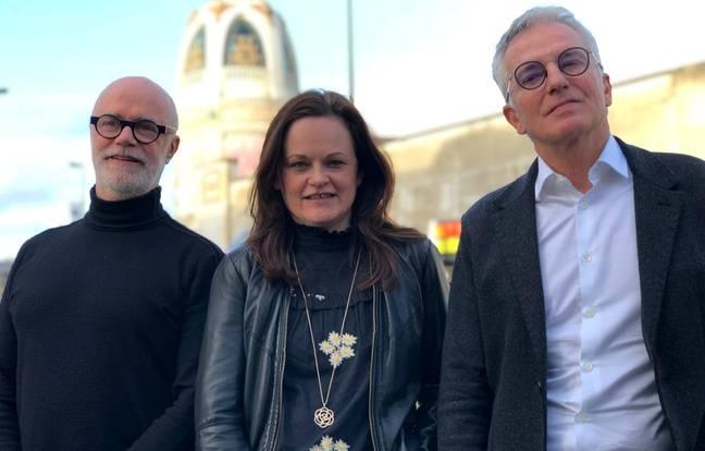 Bertrand Duchaufour, Mélanie Leroux et Marc-Antoine Corticchiato, parfurmeurs créateurs, à Nantes le mercredi 29 janvier 2020.