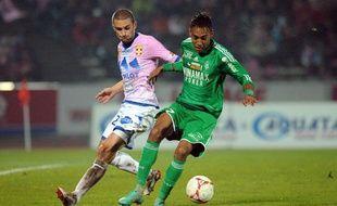 L'attaquant de Saint-Etienne Pierre-Emerick Aubameyang lors du match contre Evian le 17 novembre 2012.