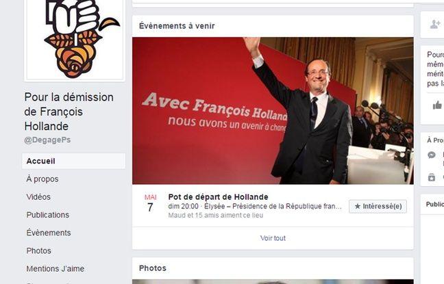 Capture d'écran du compte Facebook